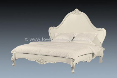 Louis Carved Bed in Antique White